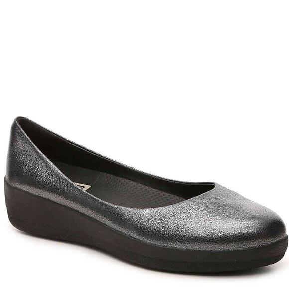 3af40a779b3605 Fitflop Shoes - Fitflop SUPER BALLERINA METALLIC BALLET FLATS ~ 8